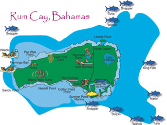 Rum Cay Fishing map